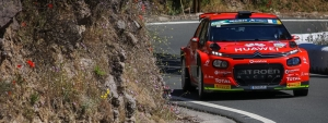 López-Rozada stay alone leading the Rally Islas Canarias after the withdrawal of Lukyanuk-Arnautov