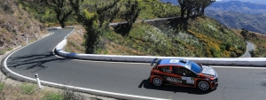 Lukyanuk-Arnautov are leading the Rally Islas Canarias after a fierce competition in Gran Canaria